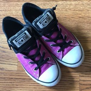 Converse All Star Canvas Black and Pink Size 4